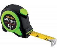 Komelon Premium 12 ft Tape Measure, Self Lock, Push Button Retrieval - SL2812